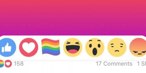 Facebook has released a rainbow flag emoji for Pride month.