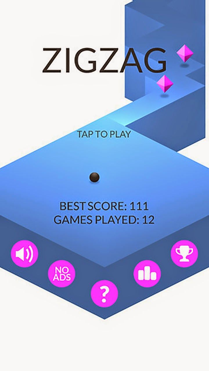 ZigZag App by Ketchapp. Puzzle Game Apps.