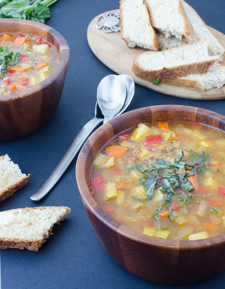 Chunky Vegetable Soup! A healthy, simple soup that's perfect anytime of the year. #Vegan and #GlutenFree