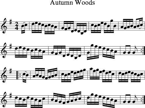 Autumn Woods (Irish Folk Song) (Ireland) sheet music for Treble Clef Instrument - 8notes.com