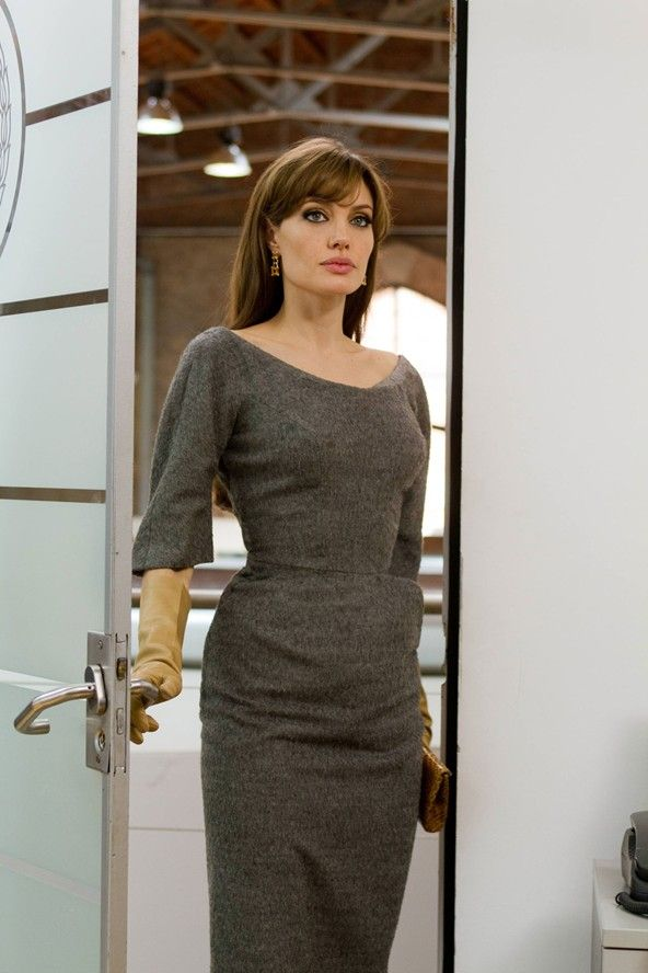 the gray dress Angelina Jolie wears in Tourist is also one of my faves.