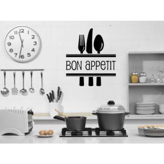 Наклейка для дома от 2stick.ru Бон Аппетит Bon Appetit и столовые принадлежности