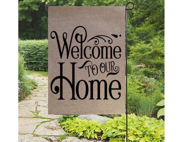 Welcome Flag Spring Yard Flag Summer Welcome Flags Welcome To Our Home Garden Flag Welcome Sign Garden Flags Ideas Garden Flag Diy Yard Flags