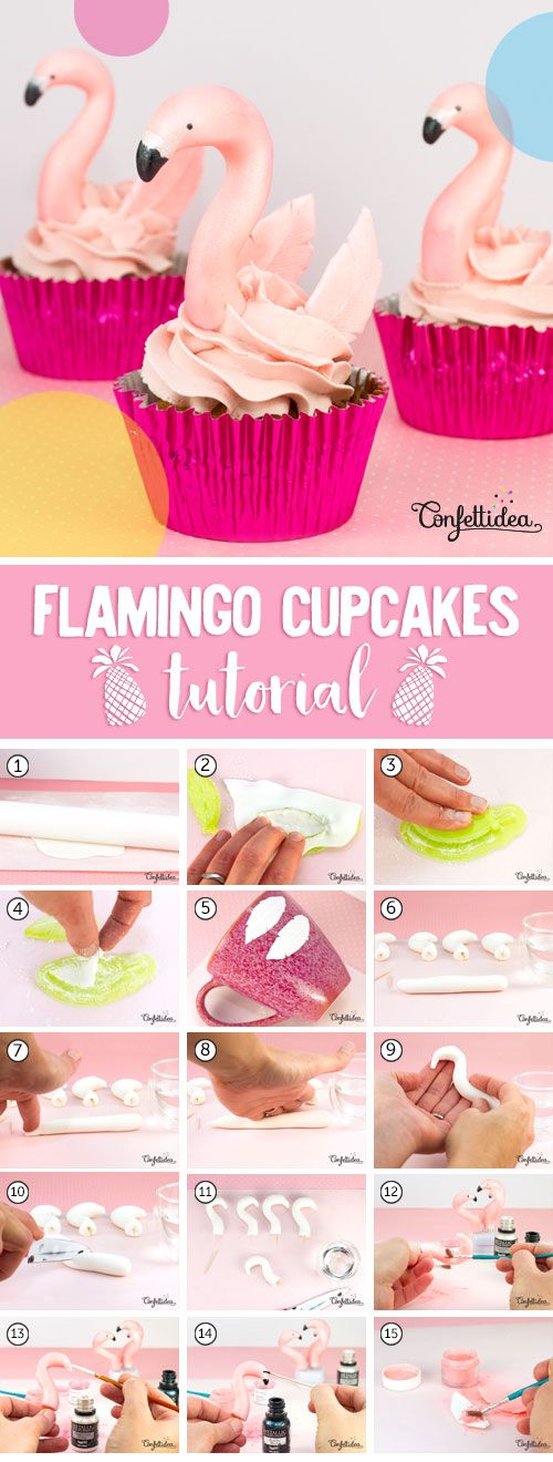 Flamingo Cupcakes Tutorial ! A step by step easy flamingo for your next birthday party !!!