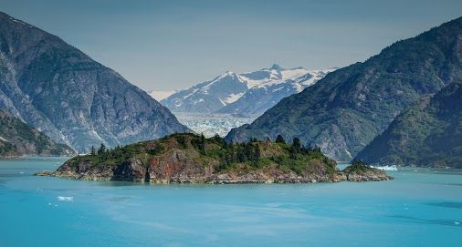 Island in the Glacial Blue - Alaska #travel - by Trey Ratcliff