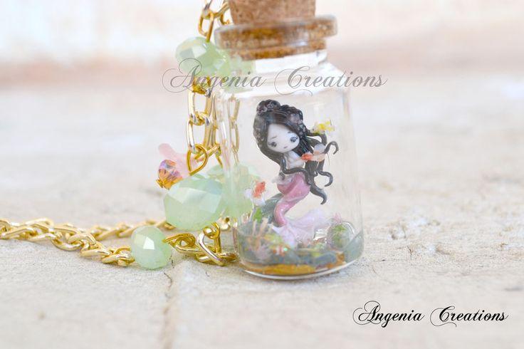 mermaid in a bottle by AngeniaC.deviantart.com on @deviantART