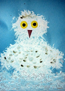Snowy Owl Craft - think i am making these soon!