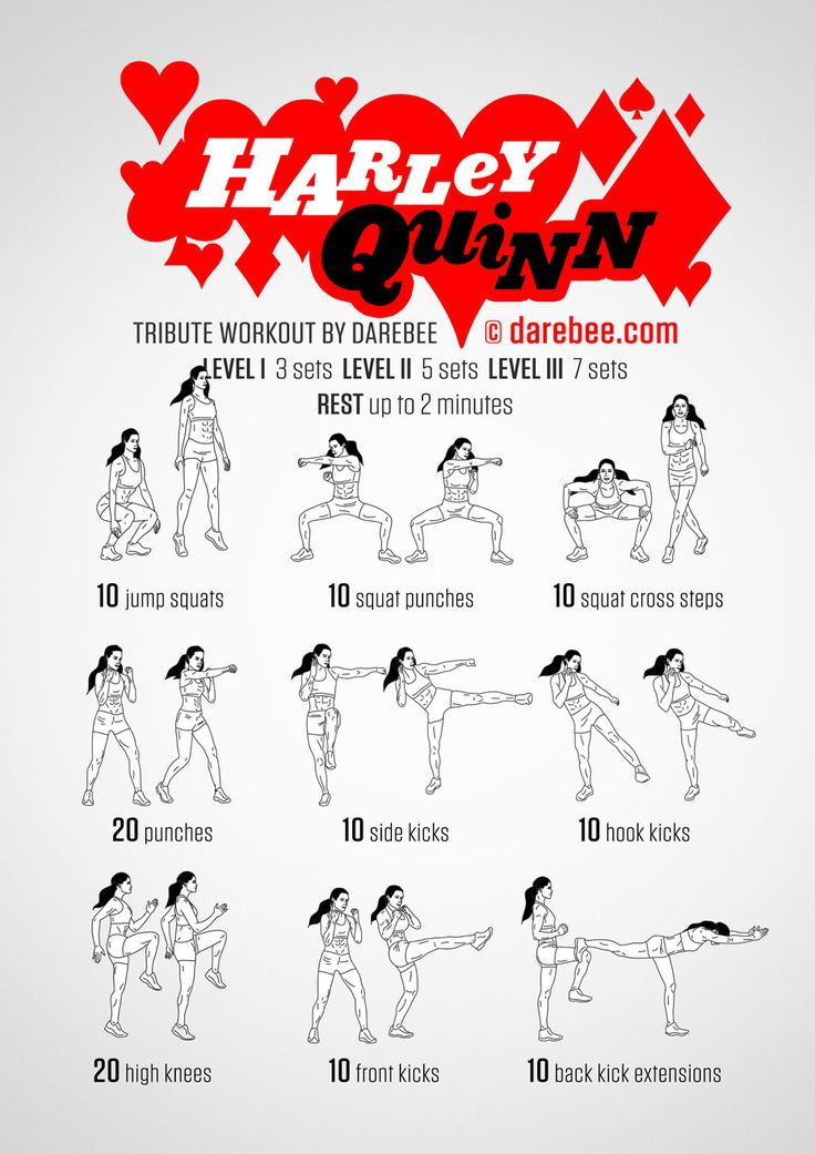 Harley Quinn workout
