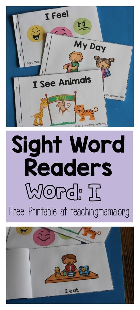 """Sight Word Reader for the Word """"I"""" - Click through to get the free printable!"""