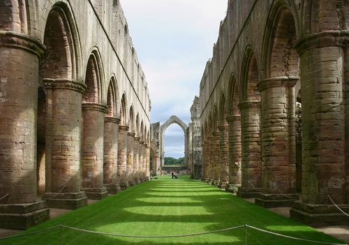 Fountains Abbey in Ripon, North Yorkshire
