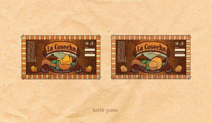 Jugos y Mermeladas La Cosecha. Juice. Fruits. Pinneapple. Guayaba. Tamarindo. Papaya. Mango. Natural. Old Style. Inspiration. Design. Identity.