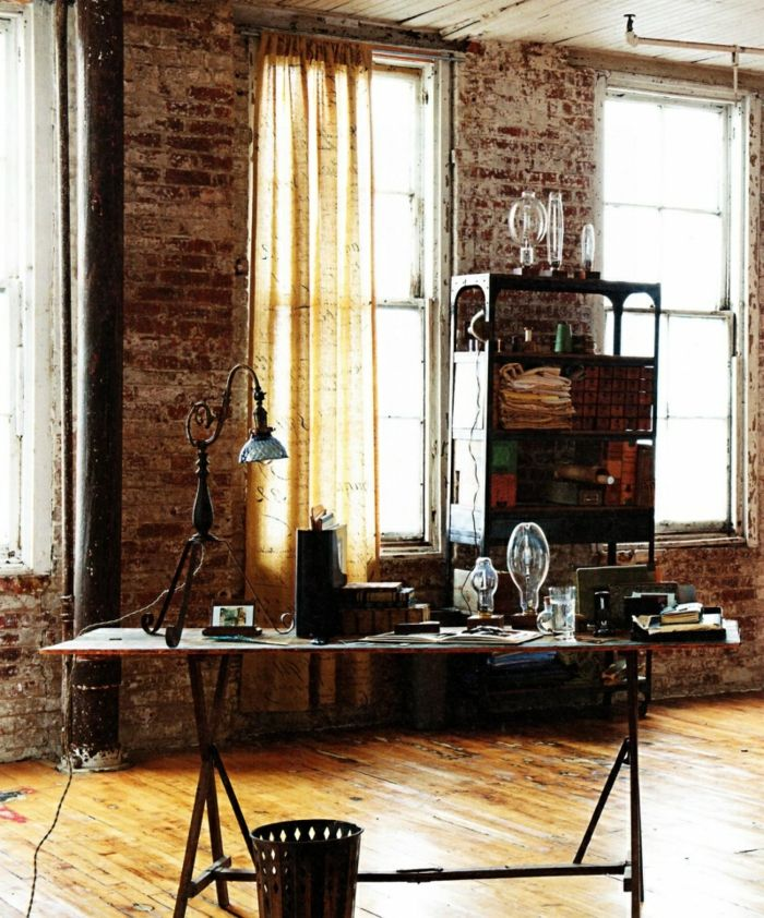 Meuble style industriel salon moderne