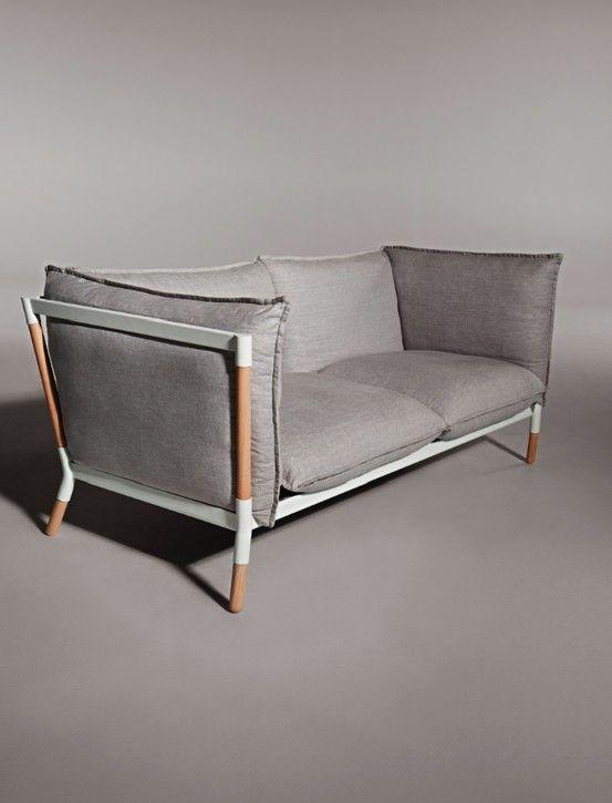 Grotto Sofa. #modernsofa #modernfurniture exposed frame