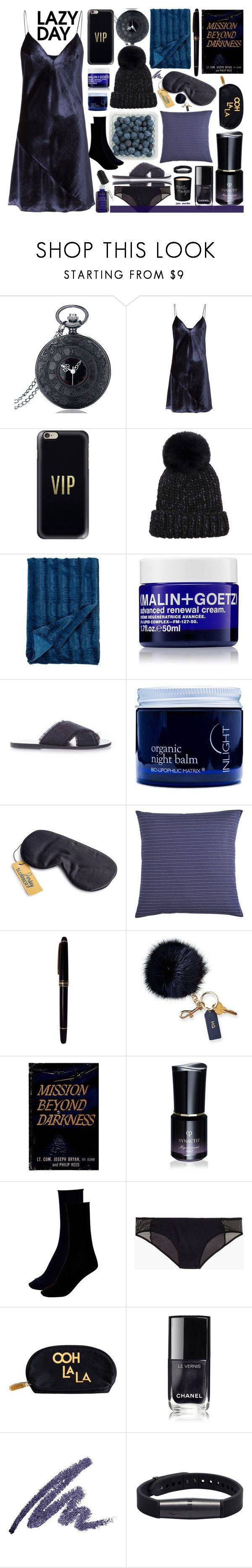 """#30 Sleep In - Lazy Day: 27/11/17"" by marika-jane ❤ liked on Polyvore featuring Fleur du Mal, Casetify, Eugenia Kim, Cathay Home Fashions, (MALIN+GOETZ), Ancient Greek Sandals, Inlight Skincare, Pier 1 Imports, Mont Blanc and Mark & Graham"
