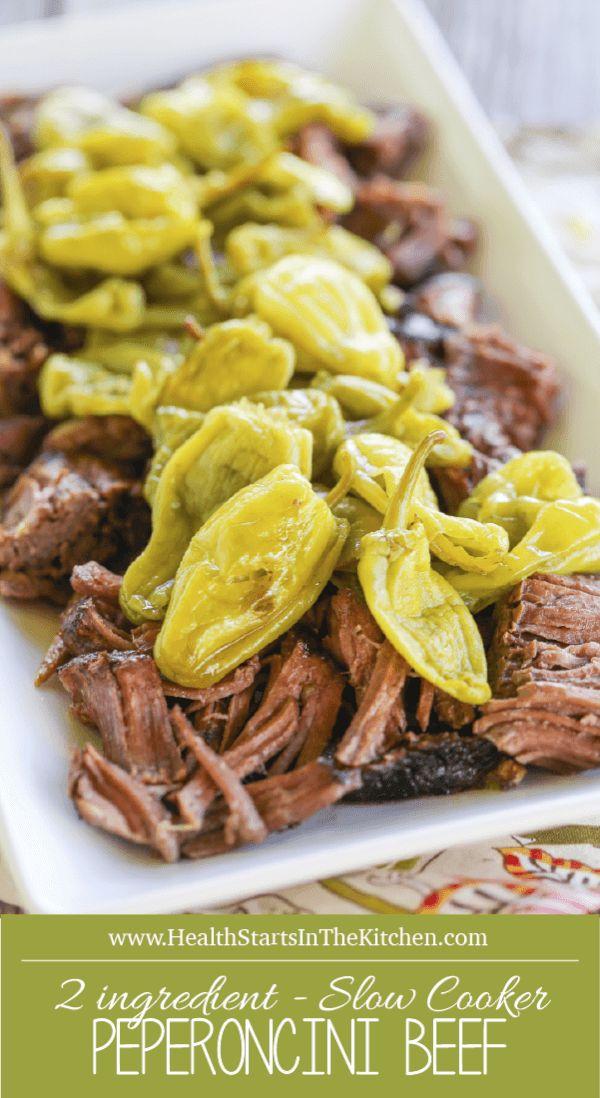 {2 Ingredient} Paleo Crock Pot Peperoncini Beef Roast Recipe