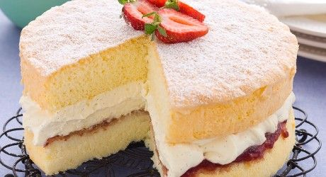 Happy National Sponge Cake Day!! - This one is so easy, 4 ingredients and very light... depending on what you fill it with ;)