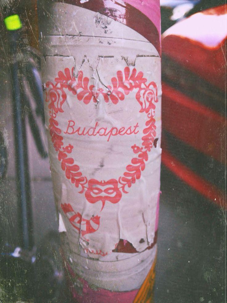 Beautiful Matyo design. Budapest street art in an A6 format.