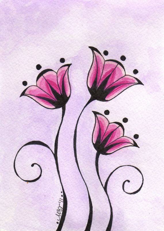 Best 25 simple flower drawing ideas on pinterest doodle flowers melody original by melissa johnson ccuart Image collections
