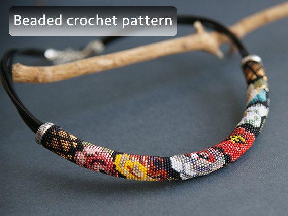 crochet bead jewelry - Cerca con Google