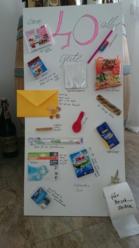 Geburtstagsgeschenk Zum 40 Geschenke Inspiration Lustige Geschenke