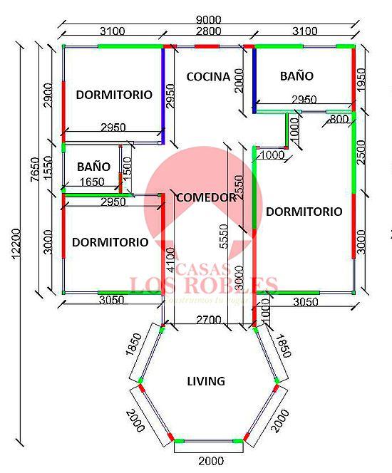 planos de casas los robles