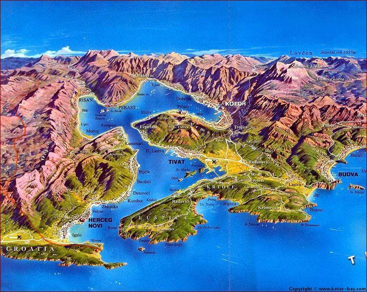 Carte Montenegro Bouches de Kotor 3D - Cliquez pour l'agrandir...