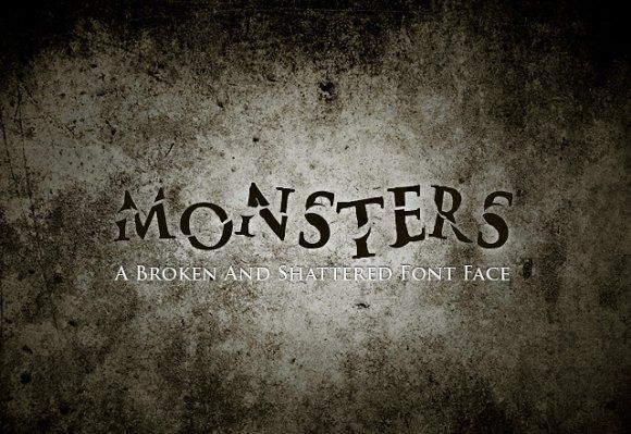 Monsters Font by Medialoot on @creativemarket