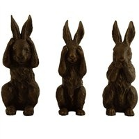 Bronze iron rabbits: Happy Easter Happy, Easter Happy Spring