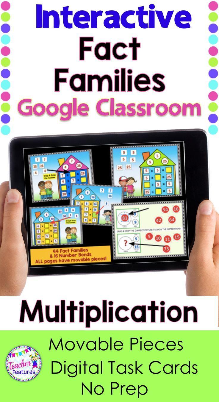 Google Classroom Math Google Slides Give 2nd 3rd Grade Students The Practi Google Classroom Math Google Classroom Multiplication Fact Families Activities