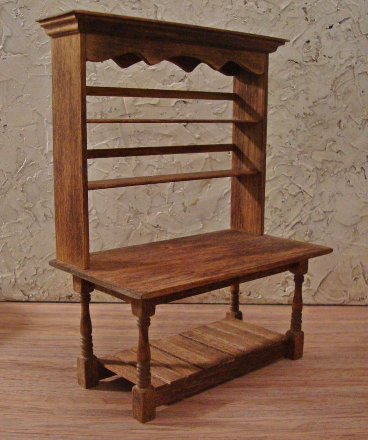 Rustic Kitchen Work Table 1 Inch Scale by WestonMiniature on Etsy