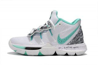 77cecb02f42a Men s Basketball Shoes Nike Kyrie 5 PE White Mint Green-Black