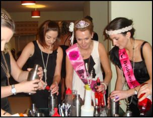 Hen Party cocktail making classes in Liverpool www.hireabarman.com