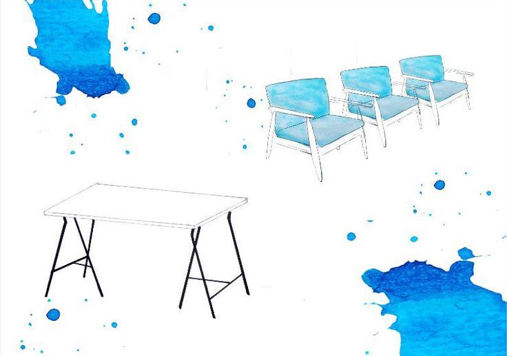 Tukevat, muunneltavat huonekalut sisään Piirros: Laura Lahdenperä