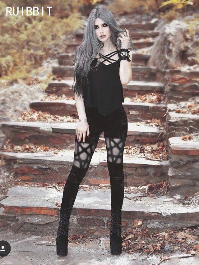2018 Autumn New arrival Fashion Black Punk Gothic Harajuku Pencil Pant Women #fashion #clothing #shoes #accessories #womensc