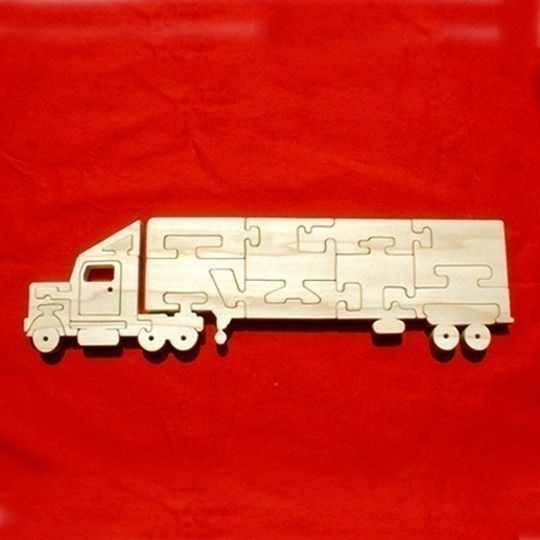 Semi 18Wheeler Tractor Trailer Truck Childrens by GrampsWoodShop, $21.95
