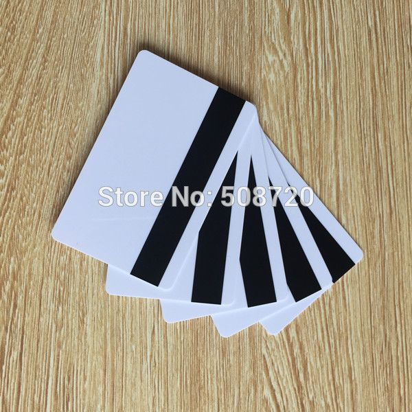 10pcs Blank White PVC Hico 1-3 magnetic stripe card Plastic Credit Card 30Mil Magnetic Card with printable for card printer #CLICK! #clothing, #shoes, #jewelry, #women, #men, #hats