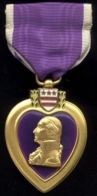 The Purple Heart is a U.S. Military decoration  given to Soldiers wounded in battle