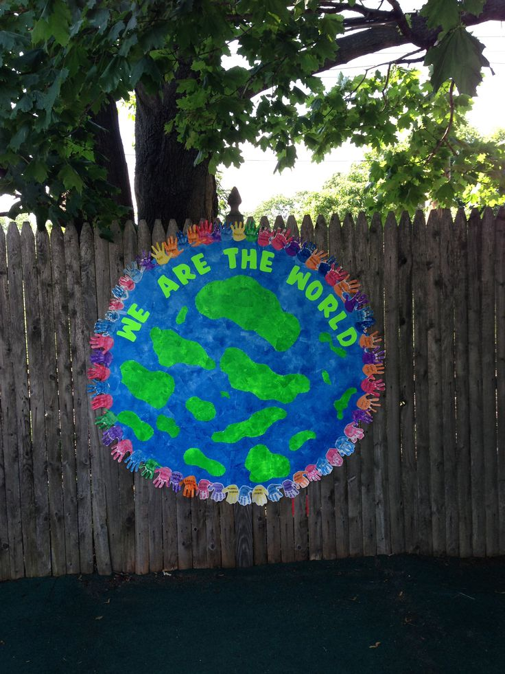 Kinder Garden: 'We Are The World' Graduation Theme With Handprints From