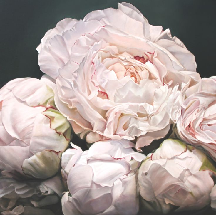 pioniesFlower Painting, Centre Piece, Floral Painting, Blushes Pink, Pastel Pink, Beautiful, Art, Thomas Darnell, Pink Peonies