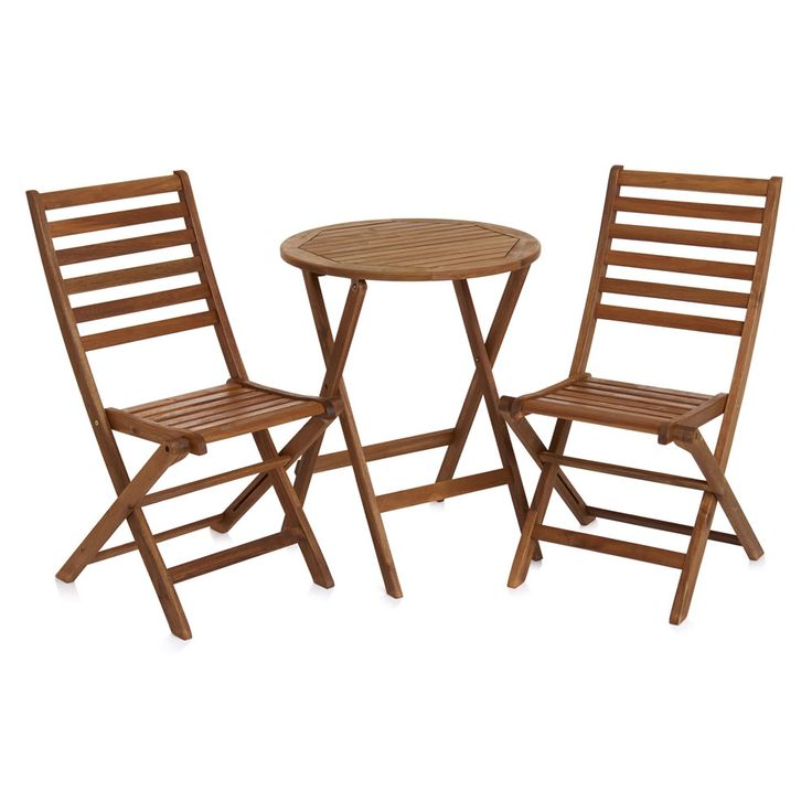 ... FSC Sourced Acacia Timber Which Has Been Pre Treated For Protection  Against The Elements. Ideal For Smaller Spaces. Set Comprises Table Chairs.