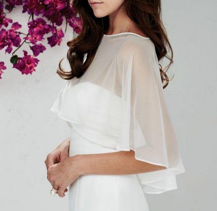 10 colors customizable chiffon wedding bride short jacket short cape round neck jacket wrapped wedding scarf wedding accessories