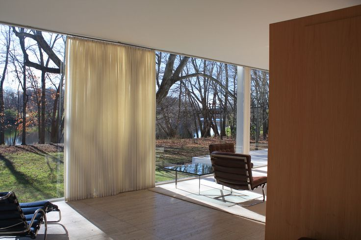 Farnsworth House by Mies van der Rohe #Interior #Architecture
