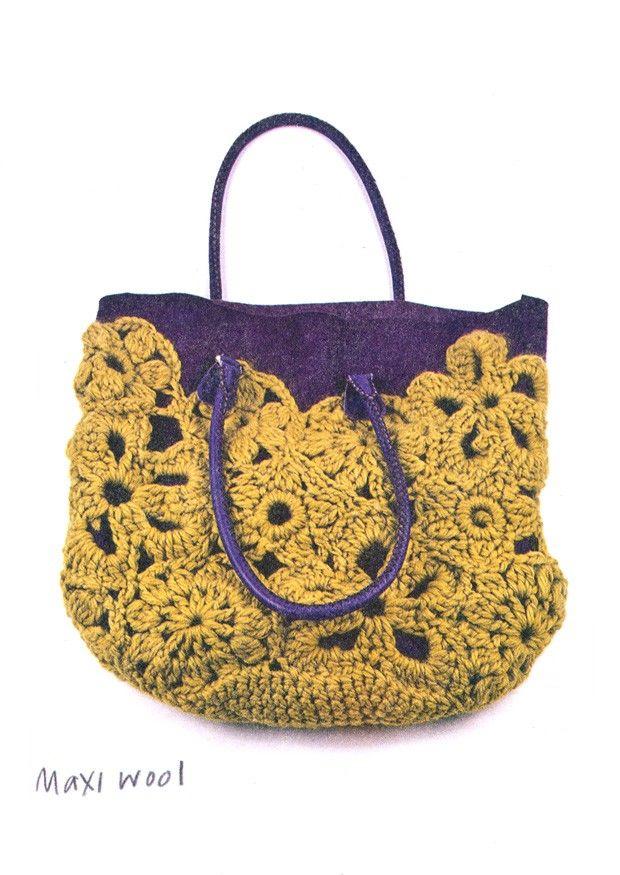 Crochet Bags Uk : Crochet Lace Bag (UK) - Erika Knight : : crochet + knit : : accesso ...