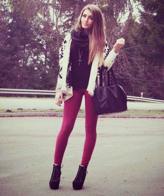 Winter/Fall outfit! I love the red skinny jeans! Great pop of color! Appropriate for Fall/Winter!