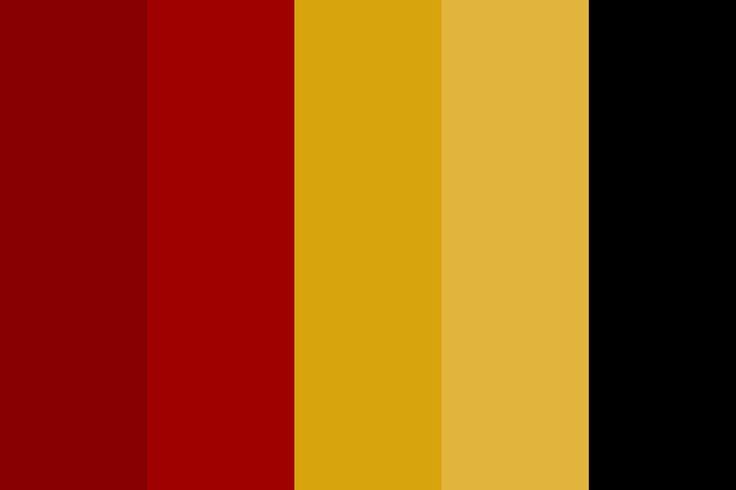 Gryffindor Pallette Color Palette