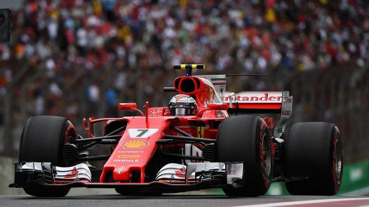 Kimi Räikkönen Ferrari SF70-H qualifying at Interlagos, São Paulo, Brazil - Saturday 11 November 2017