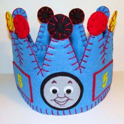 Thomas the train birthday hat! Or I assume it would be a good daily crown for just going to the market or the park.