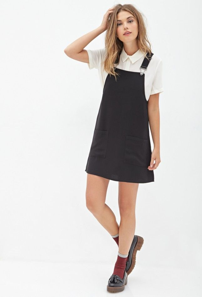 Rock an overall dress this spring.