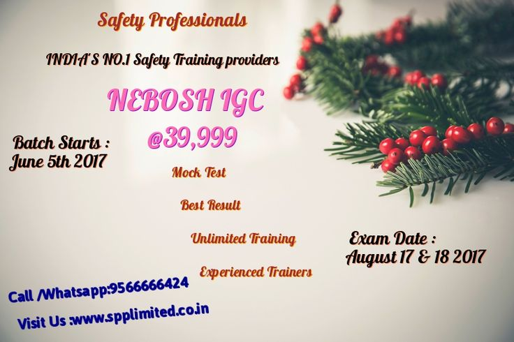 Occupational death and injuries should be concentrating and must avoid for company growth. Following safety is the responsible for each worker and among the industries to improve safe environment. Safety professional consider the safe requirement and give quality training to the students and workers.