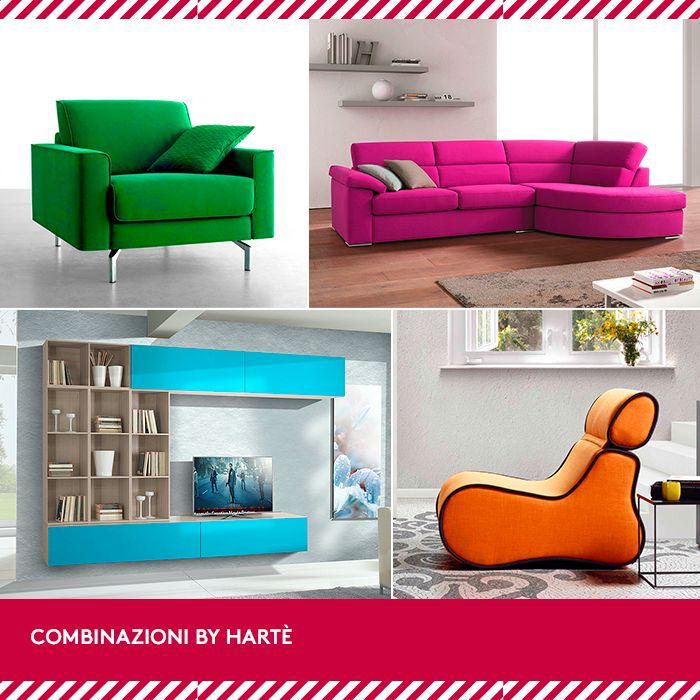 I colori sono energia, sapori e profumi. Se ami la casa briosa ecco la combinazione che fa per te: la poltrona Chanel, il soggiorno Felce, il divano Lolita e la poltroncina Connor. Arreda come sei!